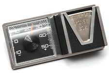 Historisches 1969 Bimetall Auto Thermometer + Münzbox Magnet Halter HR Art. 117