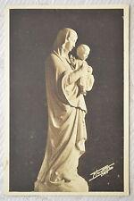 """CPA """" Sanctuaire de N.D. du Sacré-Coeur - LE MAS RILLIER - Statue de l'autel"""