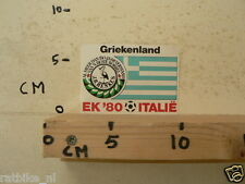 STICKER,DECAL EK 80 ITALIE VOETBAL,SOCCER JH HENKES,GRIEKENLAND , GREECE A