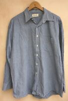 "Men's Blue Checked Long Sleeve Shirt Collar 16.5"" Debenhams<NH5417"