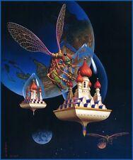 "Ilene Meyer ""Space Bugs"" serigraph Limited Edition 158/300 w/COA 29 x 35 Signed"