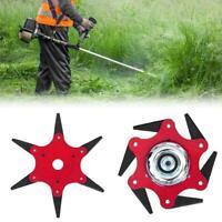 6 Steel Blades Razors 65Mn Lawn Mower Grass Eater Trimmer Head Brush U6J0