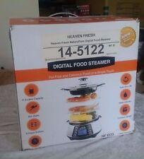 Heaven Fresh Stainless Steel Digital 3 Tier Electric Food Steamer HF 8333 - NIB