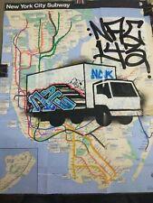 NYC GRAFFITI SUBWAY MAP NAC143
