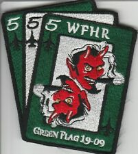 Air Force Patch Lot, USAF, 555th Fighter Squadron, Red Flag 19-09 on V/crow