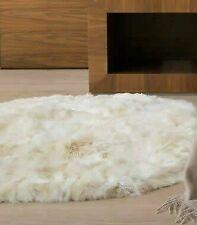 Rug round alpaca real fur Ivory, Alpaca rugs round indoor soft warm, rugs custom