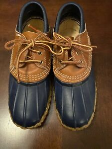 LL Bean Womens 6 USA Maine Low Ankle Duck Muck Bean Boots Hunting Shoe Blue