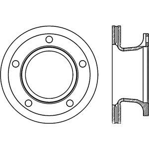 Disc Brake Rotor-C-TEK Standard Front Centric fits 87-88 Mitsubishi Fuso FE