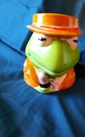 "Vintage Sigma Kermit The Frog Muppet News Ceramic 4"" Coffee Cup Mug Jim Hensen"
