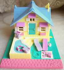Polly Pocket Summer House complete set w dolls Bluebird Toys