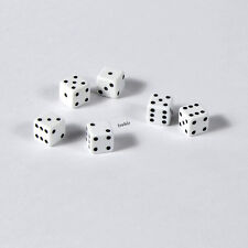 50 Stück 7mm Weisse Knobel Würfel / Augen Würfel Spielwürfel von Frobis