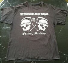 *RARE! PUNK* SEVERED HEAD OF STATE T SHIRT L Worn DISTRESSED Band RIPPED Genuine