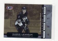 MARIO LEMIEUX PITTSBURGH PENGUINS 2002 HEADS UP STAT MASTERS #14