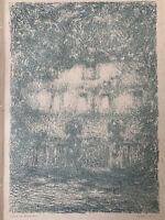 Le Sidaner gravure Lithographie Lithograph Maison Au Clair De Lune