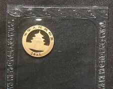 "2013 20 YUAN GOLD PANDA COIN  ""SEALED""  AGW=0.050 LOT 120302"