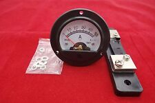 DC 0-50A Round Analog Ammeter Panel Current Meter Dia. 66.4mm DH52 with shunt