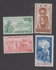 Colonies Françaises -Timbres neufs ** Afrique Equatoriale Française PA N°10 à 13