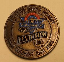 F/A-18E/F Super Hornet 100th Delivery June 2002 Boeing Navy Challenge Coin