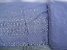 Purple LILAC Embroidered Eyelet Fabric Scalloped Edge 43-44 Width BTY