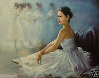 "Quality Oil Painting on Canvas 30""x40"" - Ballerinas"