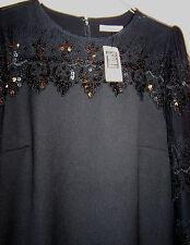 "DARLING ""TOAST OF CHARLESTON"" VINTAGE-STYLE BLACK DRESS LONG SLEEVE size L, NEW"