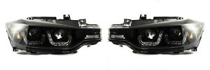 For BMW 3 Series F30 F31 2011-15 Black LED DRL Double U Projector Headlights