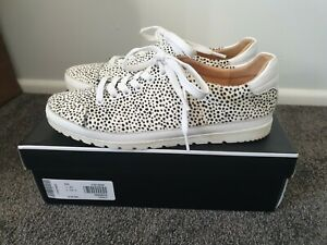 Diana Ferrari Aquine White Speckle Pony Leather Sneakers Size 40