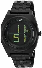 Nixon Time Teller Digital Black Stainless Steel Chronograph Unisex Watch A948001