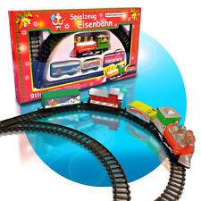 Miniatur Eisenbahn Mini Zug komplettset Weihnachtszug Weiche Batterie 9 Tlg.