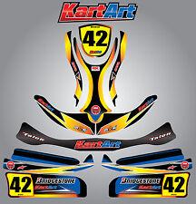 Arrow X1 full custom KART ART sticker kit SUNRISE STYLE / graphics / decals