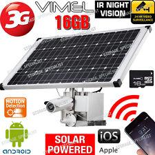 Wireless Solar Security Camera 3G GSM Alarm System Farm Video CCTV Outdoor Phone