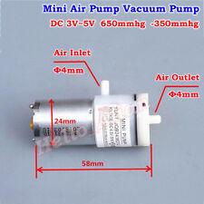 DC 3V~5V 4.5V Micro Mini 370 Air Pump Negative Pressure Suction Vacuum Pump