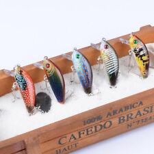 5pcs Plastic Bait Wobblers Minnow Baits Fishing Lures Bass CrankBait 5cm/3.8g