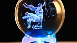 Zodiac sign crystal ball ornament- star sign, astrology, constellations, gifts
