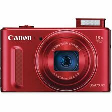 NEW Canon PowerShot SX610 20.2MP Digital Camera 18x Optical Zoom Wi-Fi / NFC Red