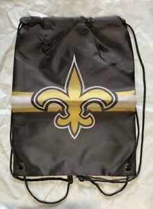 New Orleans Saints Drawstring Back Pack NEW Back Sack - Free U.S.A. Shipping
