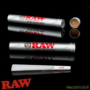 RAW Aluminium Kingsize Joint Holder Tube | Pre-rolled Smell Proof Stash Storage