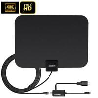 150Mile 1080P HD Digital Indoor Amplified TV Antenna HDTV with Amplifier VHF/UHF