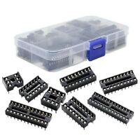 66Pcs/Lot DIP IC Sockets Adaptor Solder Type Socket Kit 6,8,14,16,18,20,24, W9N3