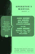 JOHN DEERE 400 Cultivator 50 60 A B G Operators Manual
