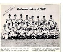 1954 Hollywood Stars Team Photo Baseball California Usa Pcl