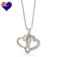 Love Heart 18ct Yellow Gold Zirconia Necklace/Pendant Wedding-Gift-Jewellery