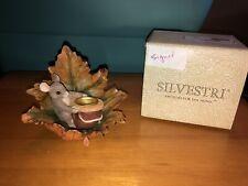 """Charming Tails """"Oak leaf candle holder"""" Dean Griff Silvestri Signed"""