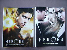 2x Poster Heroes (2009) Staffel 3 + 4 (Milo Ventimiglia,Hayden Panettiere...)