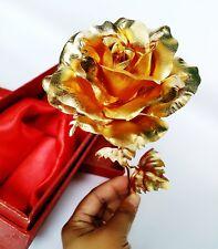 New 24K Gold-plating Foil Rose Flower Full Blossom Christmas Gift c/w gift box