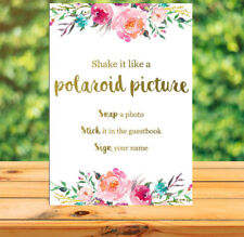 Printable Photobooth guest book sign - wedding, bridal shower, baby shower