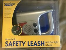 New Retractable Safety Leash Dog w/Flashlight & Radio