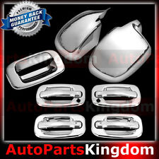 99-06 Chevy Silverado Chrome FULL Piece Mirror+4 Door Handle+KH+Tailgate Cover