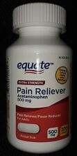 NEW EQUATE ADULT EXTRA STRENGTH ACETAMINOPHEN PAIN RELIEVER 500 MG 200 CAPLETS
