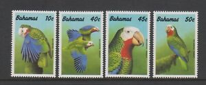 Bahamas - 1990, Amazon Parrot, Birds set - MNH - SG 882/5